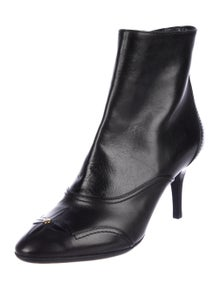 b5ad7ce6af89 Louis Vuitton. Leather Ankle Boots