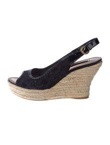 86253b792f69 Louis Vuitton. Denim Slingback Sandals