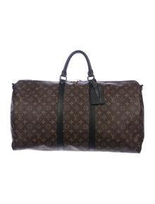 43eee1b60 Louis Vuitton. Monogram Macassar Keepall Bandoulière 55