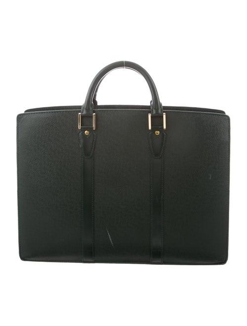 Louis Vuitton Taiga Lozan Briefcase green