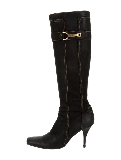 821a6cbb3 Louis Vuitton Suede Knee-High Boots - Shoes - LOU242540   The RealReal