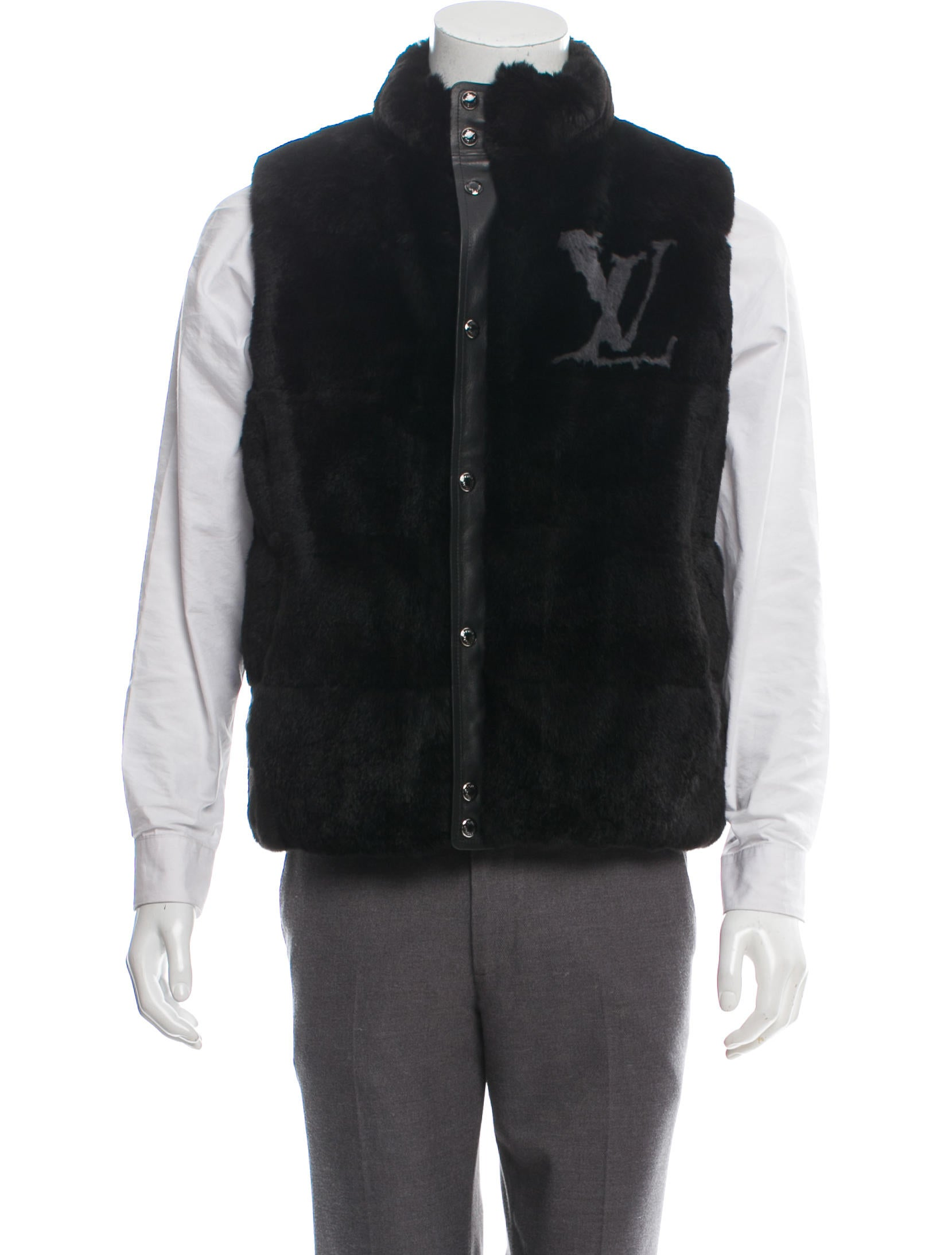 24ee10e9c88 Reversible Fur & Leather Vest