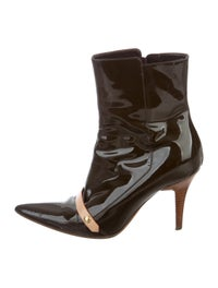Patent Leather Pointed-Toe Boots image 1