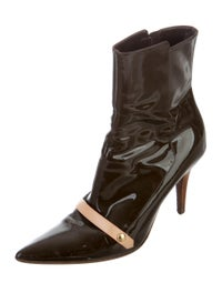 Patent Leather Pointed-Toe Boots image 2