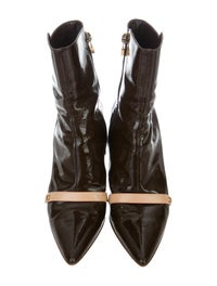 Patent Leather Pointed-Toe Boots image 3