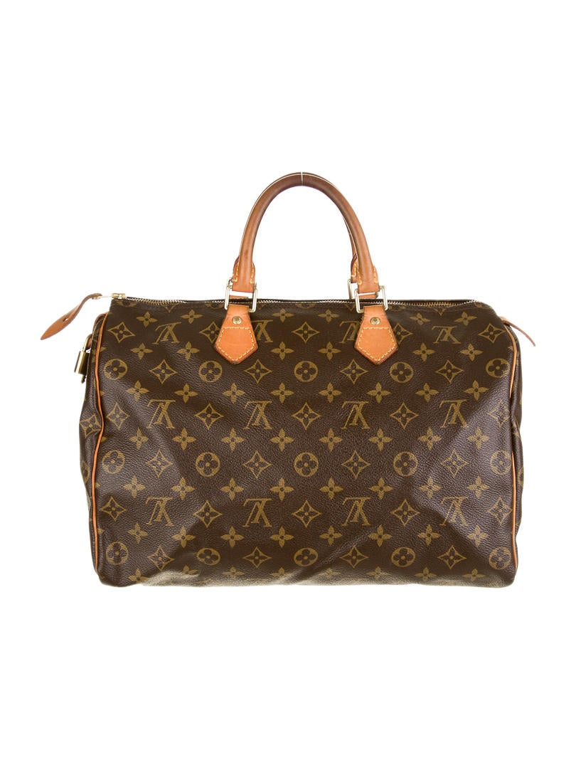 Louis vuitton speedy 35 handbags lou26349 the realreal for Louis vuitton miroir speedy 35
