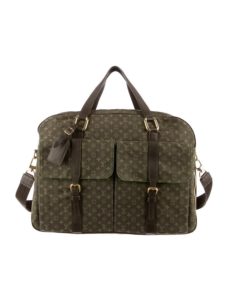 louis vuitton mini lin weekender handbags lou26816 the realreal. Black Bedroom Furniture Sets. Home Design Ideas