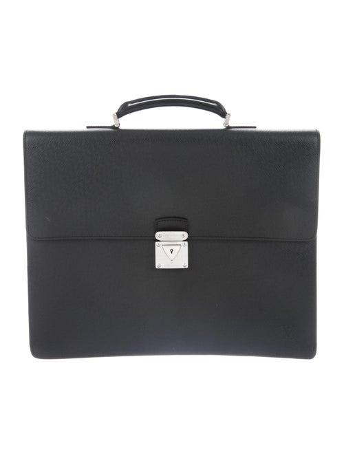 Louis Vuitton Taïga Laguito Briefcase silver