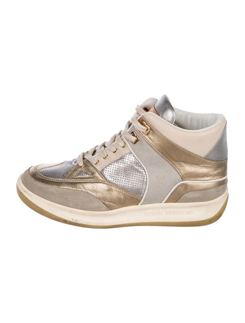Metallic Leather High Top Sneakers by Louis Vuitton