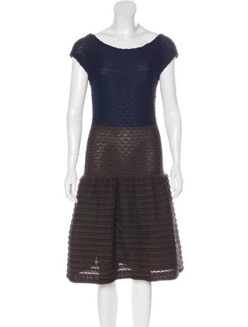 Louis Vuitton Textured Knit Dress Brown