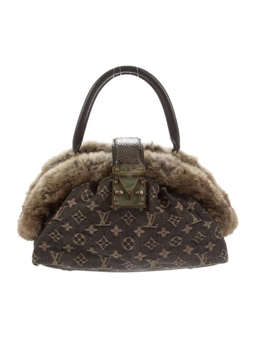 Louis Vuitton Chinchilla-Trimmed Demi Lune Bag Bro