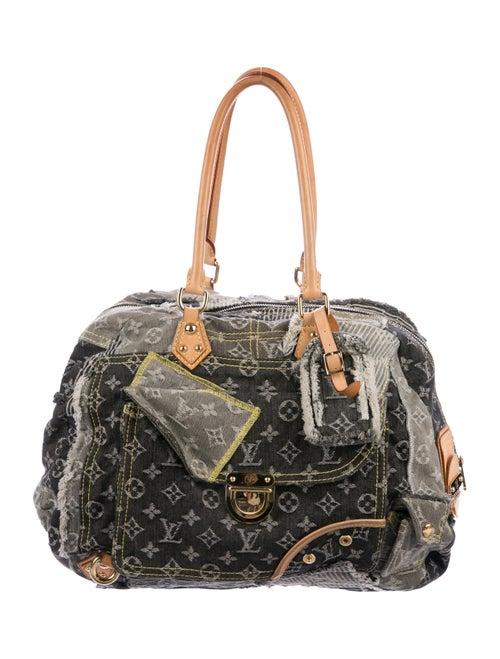 Louis Vuitton Denim Patchwork Bowly grey