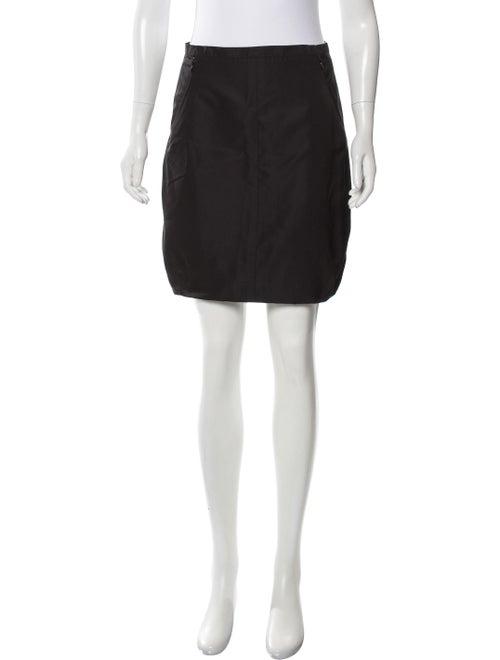 Louis Vuitton Silk Mini Skirt Black