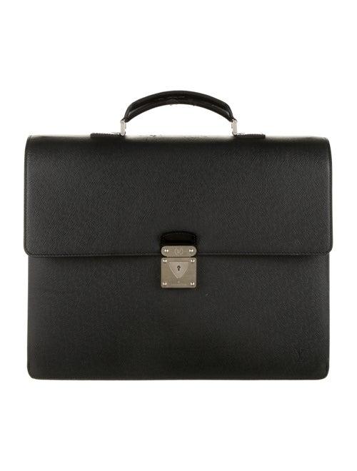 Louis Vuitton Leather Briefcase black