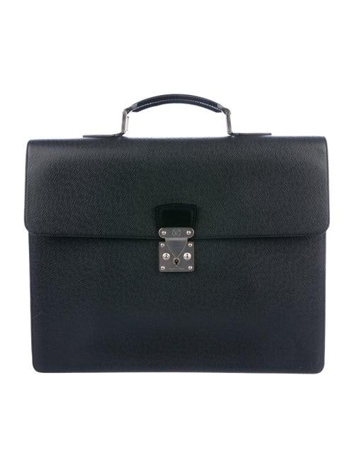 Louis Vuitton Taiga Laguito Briefcase silver