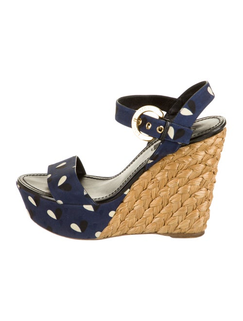 Louis Vuitton Polka Dot Print Espadrilles Blue