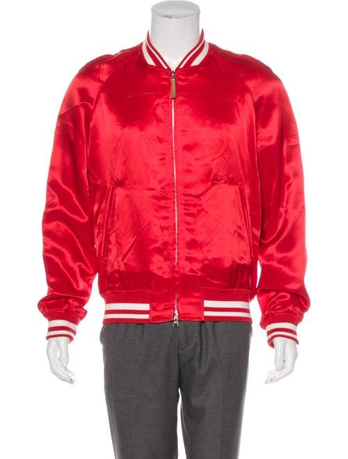 Louis Vuitton 2018 Embroidered Souvenir Jacket red