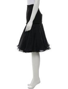 Louis Vuitton Lace Trim Embellishment Knee-Length Skirt w/ Tags