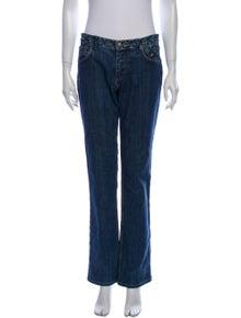 Louis Vuitton Mid-Rise Straight Leg Jeans