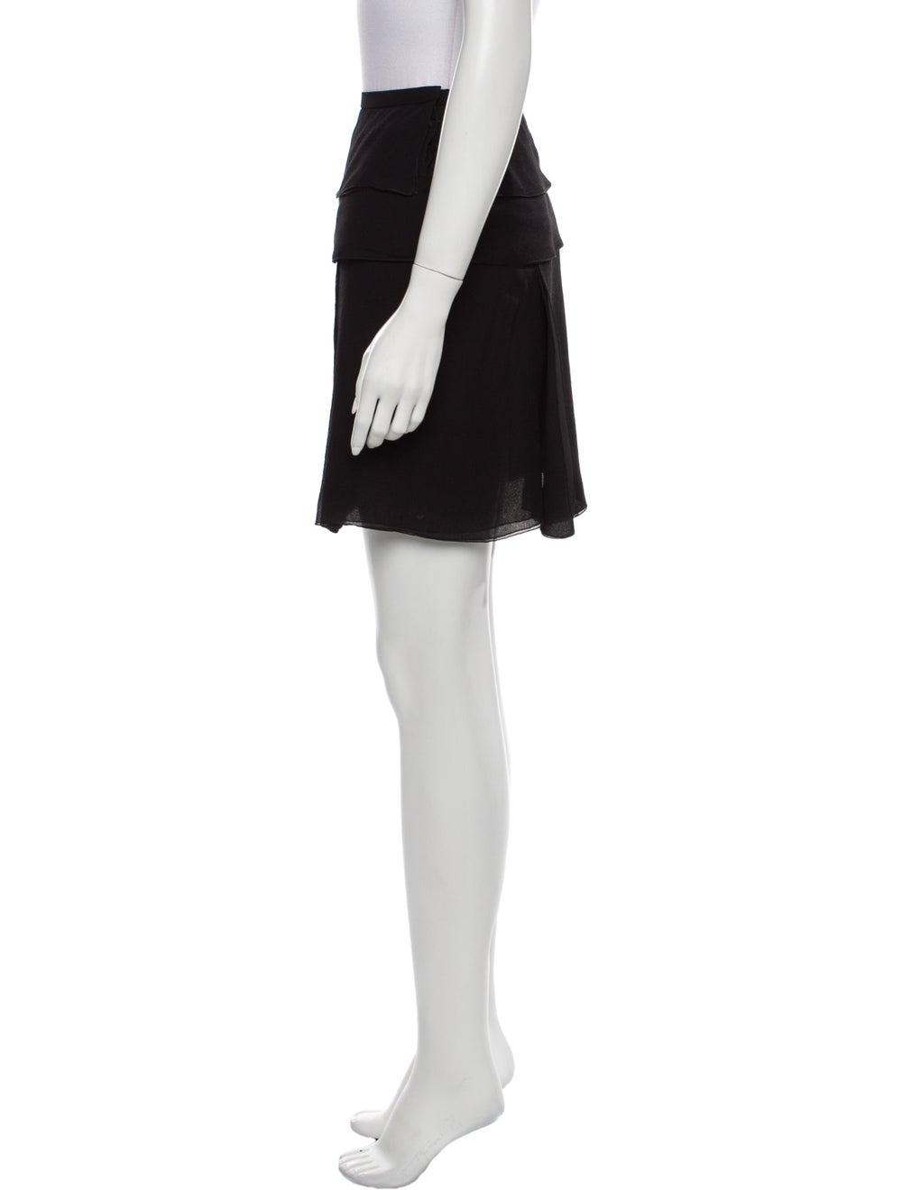Louis Vuitton Silk Mini Skirt Black - image 2