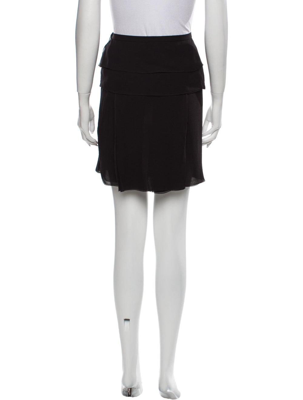 Louis Vuitton Silk Mini Skirt Black - image 3