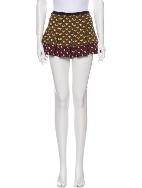 Louis Vuitton Printed Mini Skirt Green