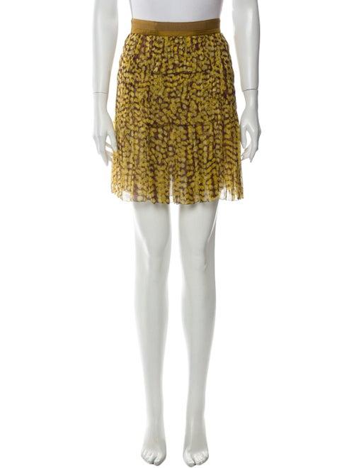 Louis Vuitton Silk Mini Skirt Green