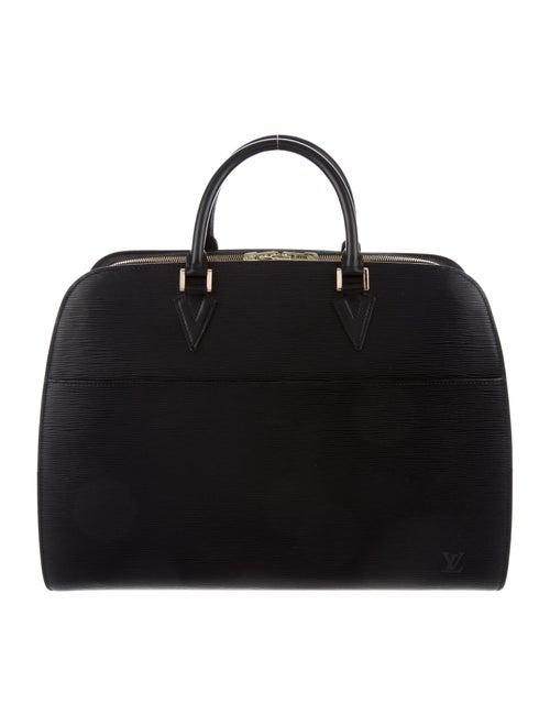 Louis Vuitton Epi Sorbonne Double Briefcase Black