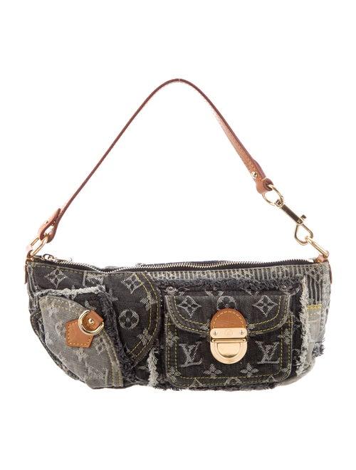 Louis Vuitton Patchwork Denim Pouchy Bag grey