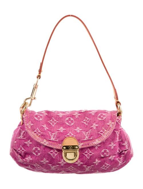 Louis Vuitton Denim Mini Pleaty Bag Pink
