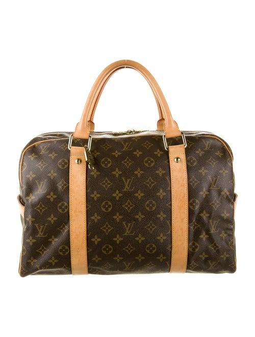 Louis Vuitton Monogram Carryall Bag Brown