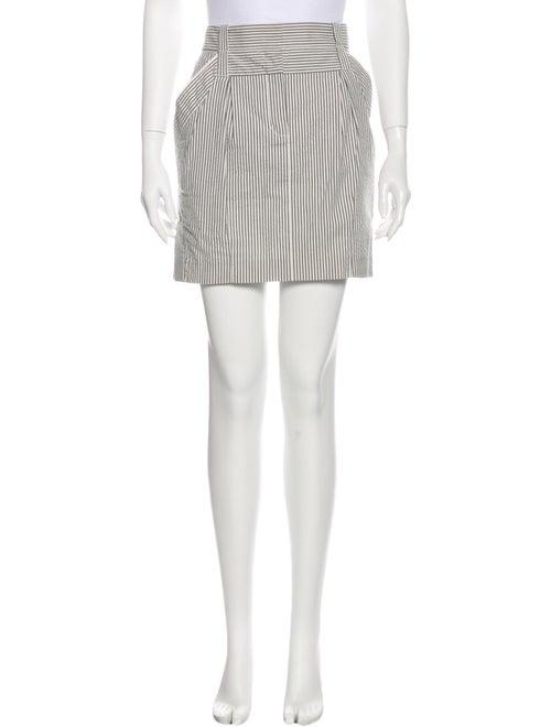 Louis Vuitton Striped Mini Skirt Blue