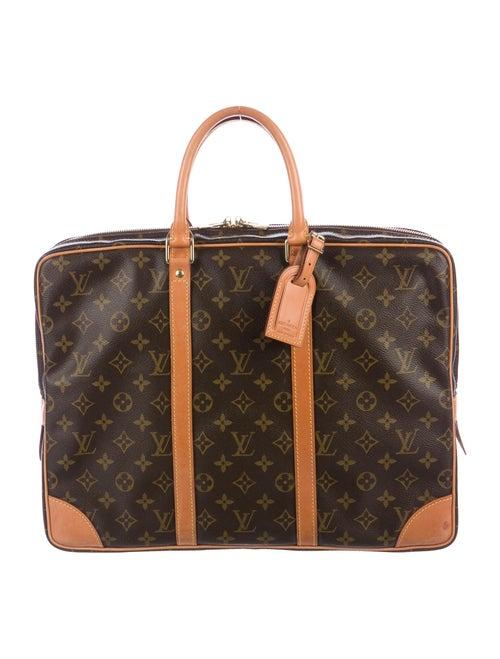 Louis Vuitton Monogram Cupertino Briefcase brown