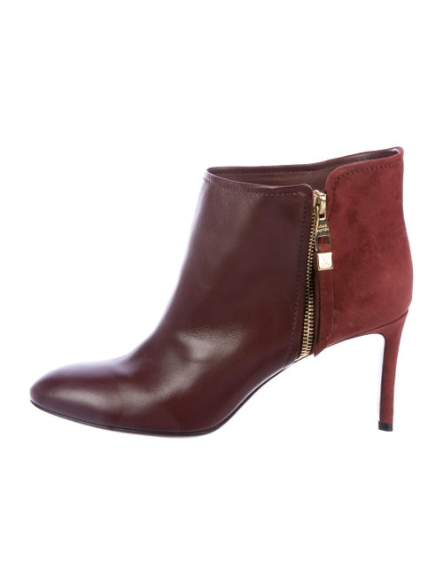 Louis Vuitton Leather Ankle Boots Red
