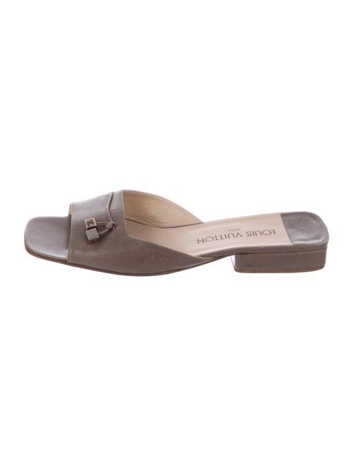 Louis Vuitton Leather Slides