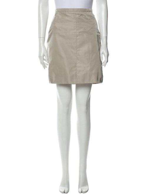 Louis Vuitton Silk Mini Skirt Grey