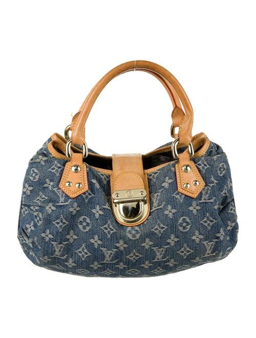 Louis Vuitton Monogram Denim Pleaty Bag blue