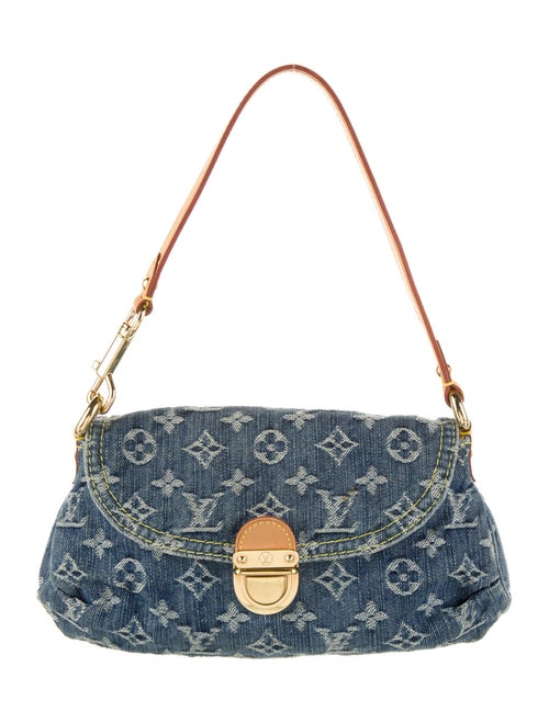 Louis Vuitton Monogram Denim Mini Pleaty Bag denim
