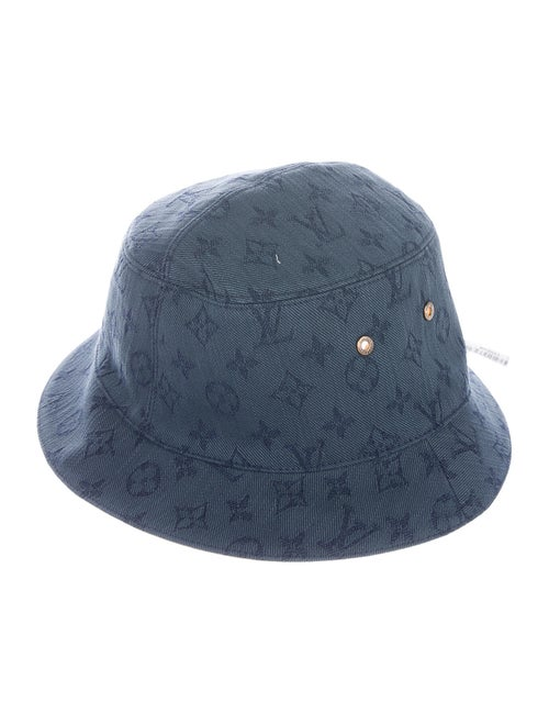 Louis Vuitton 2019 Monogram Denim Bucket Hat w/ Ta