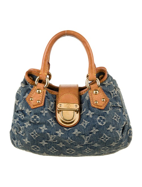 Louis Vuitton Monogram Denim Pleaty Bag blue