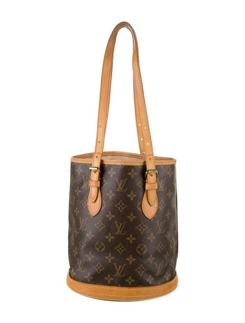 Louis Vuitton Monogram Petit Bucket Bag Brown