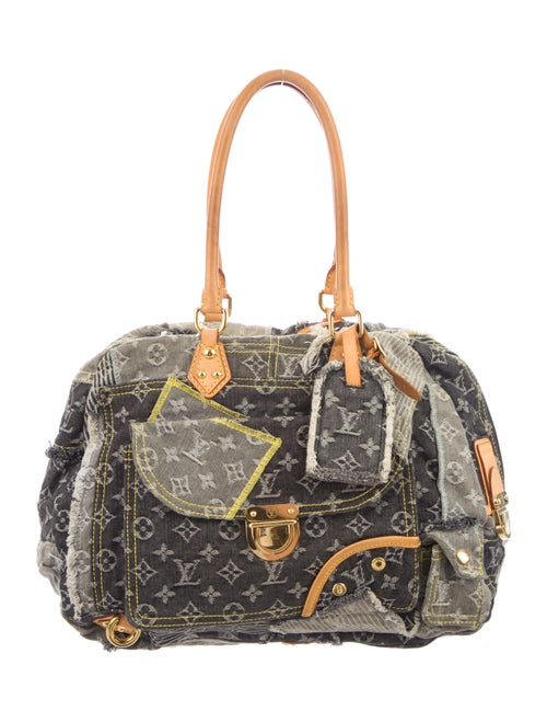 Louis Vuitton Monogram Denim Patchwork Bowly Bag B