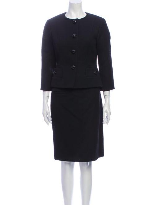 Louis Vuitton Wool Skirt Set Wool