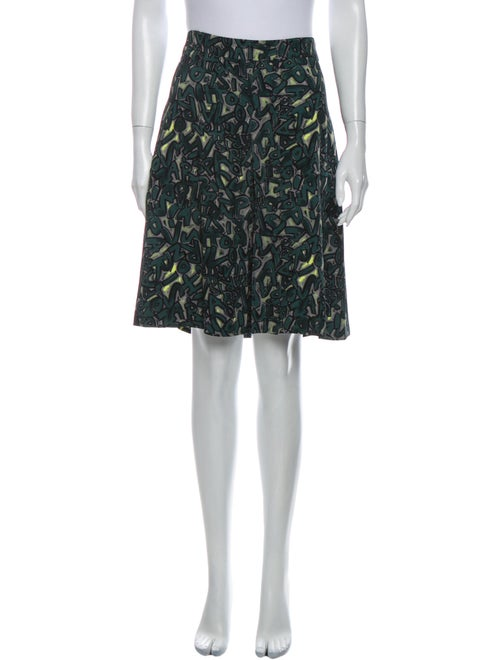 Louis Vuitton Printed Knee-Length Skirt Green