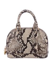 Louis Vuitton Python Alma BB