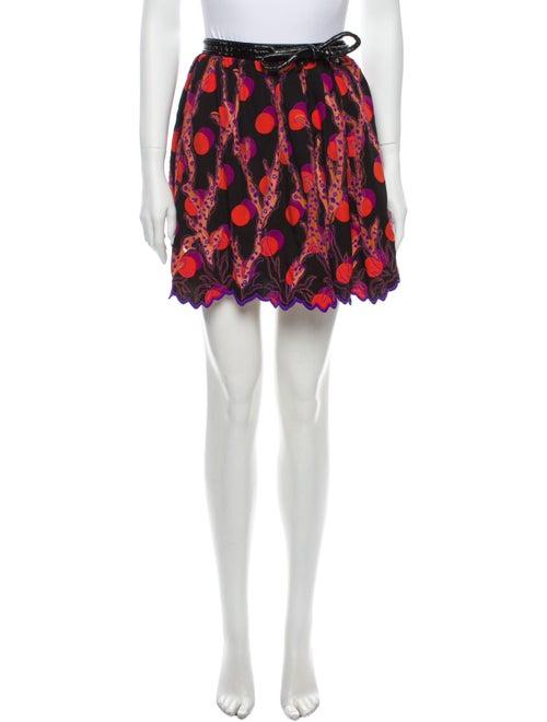Louis Vuitton Printed Mini Skirt Black