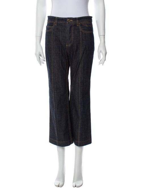 Louis Vuitton Mid-Rise Wide Leg Jeans Blue