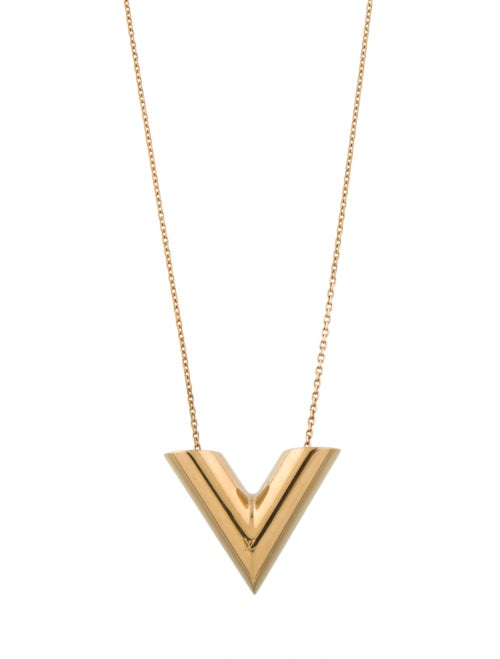 Louis Vuitton Sautoir Pendant Necklace Gold