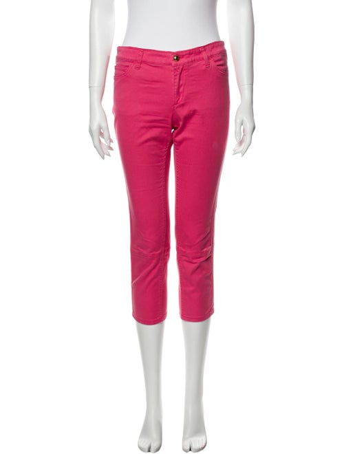 Louis Vuitton Low-Rise Straight Leg Jeans Pink