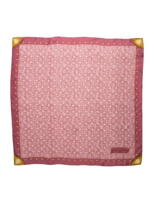 Louis Vuitton Monogram Denim Silk Scarf Pink